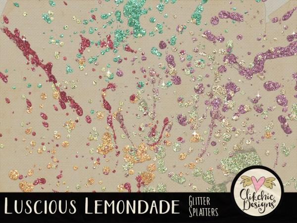 Luscious Lemonade Glitter Splatters