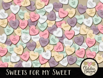 Sweets for my Sweet Digital Scrapbook Elements