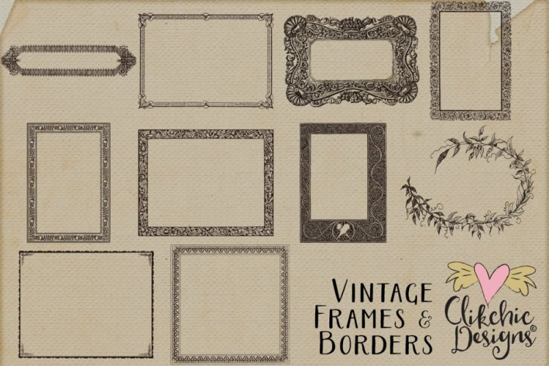 Vintage Frames and Borders with Photoshop Brushes