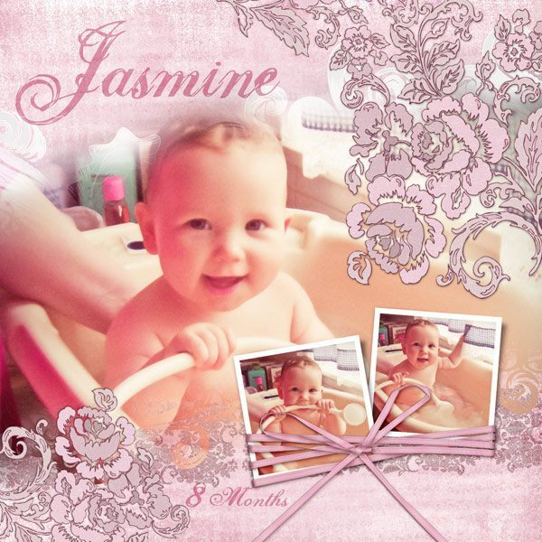 Ala Pink Digital Scrapbook Layout