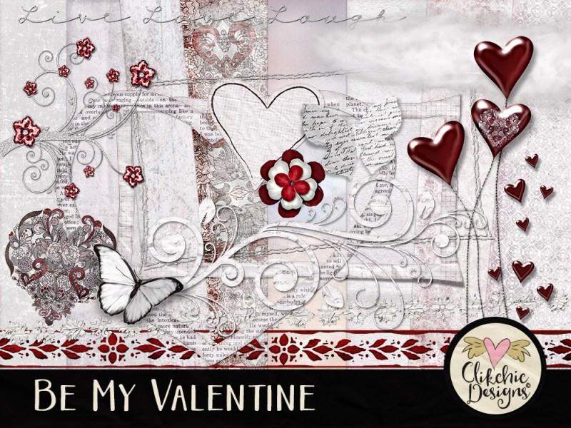 Be My Valentine Digital Scrapbook Kit