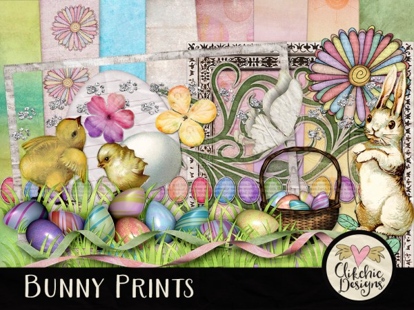 Bunny Prints Digital Scrapbook Kit