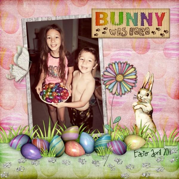 Bunny Prints Digital Scrapbook Layout