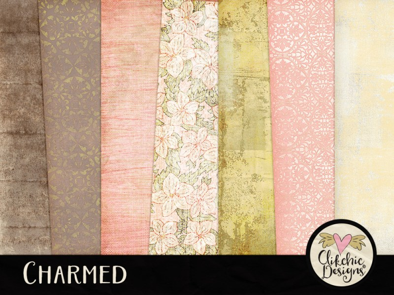 Charmed Shabby Digital Scrapbook Kit