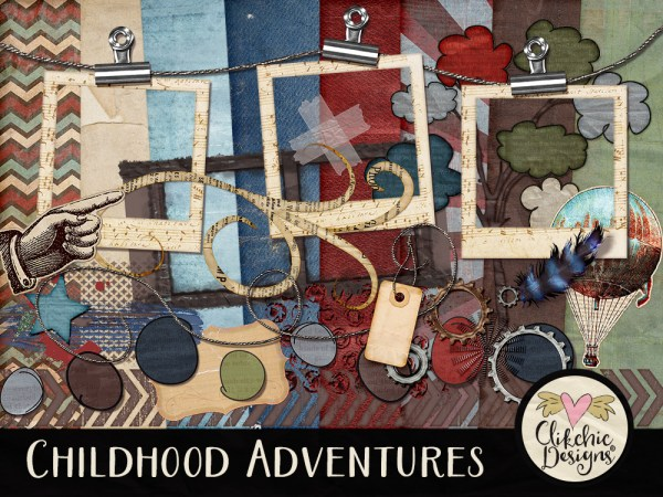 Childhood Adventures Digital Scrapbook Kit