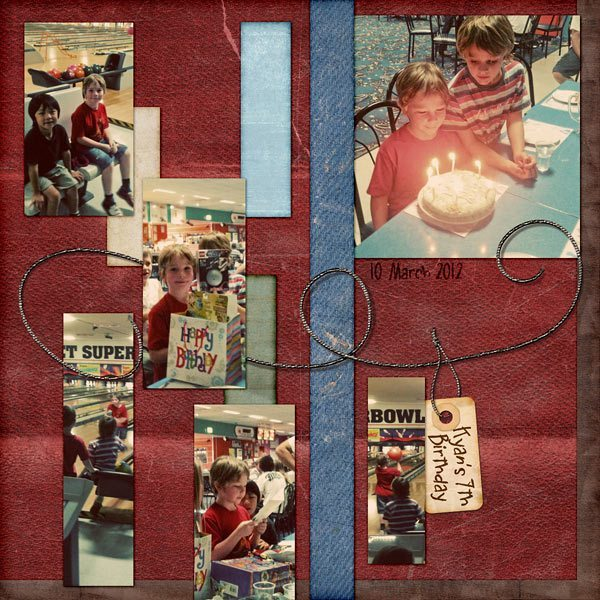 Childhood Adventures Digital Scrapbook Layout
