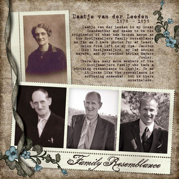 Family Resemblance Digital Scrapbook Layout