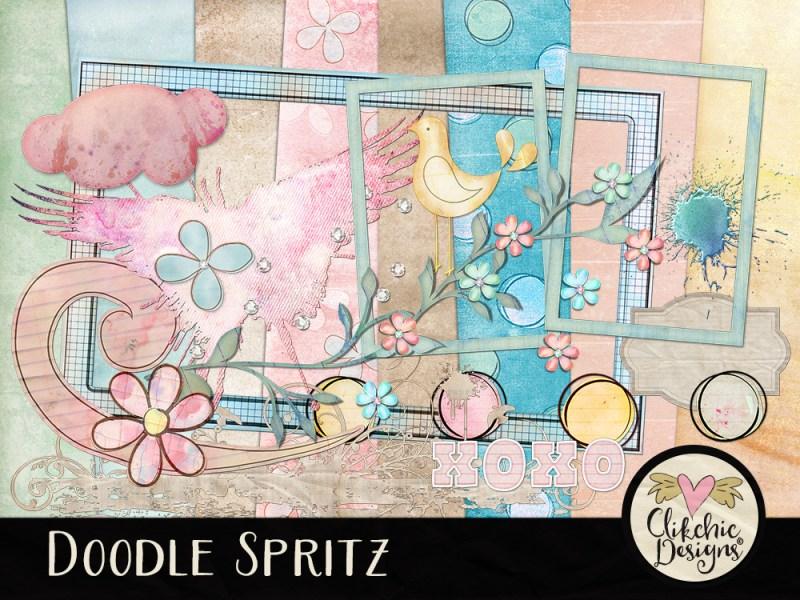 Doodle Spritz Digital Scrapbook Kit