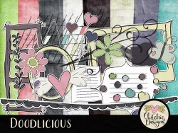 Doodlicious Digital Scrapbook KIt