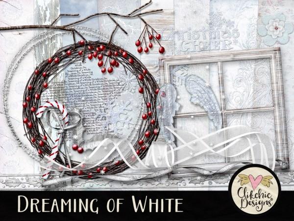Dreaming of White Christmas & Winter Digital Scrapbook Kit