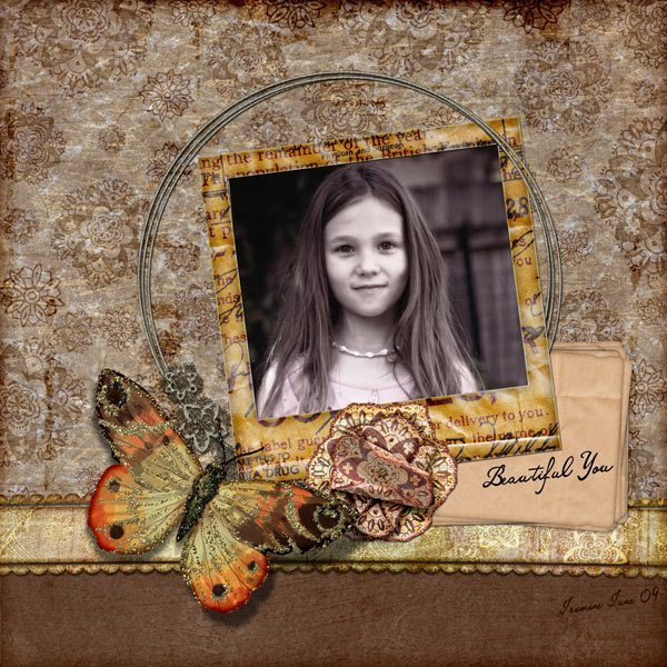 Dusty Hues Digital Scrapbook Layout
