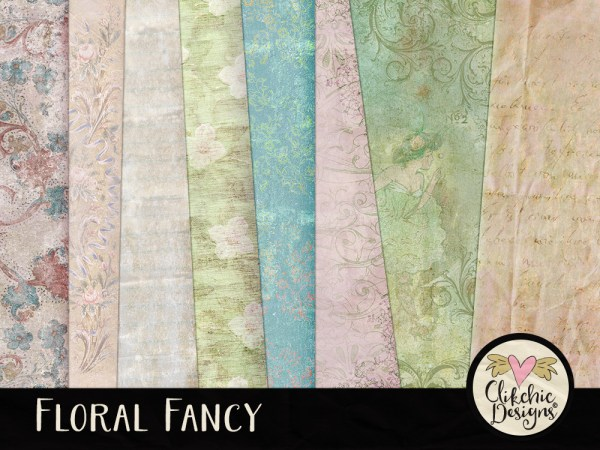 Floral Fancy Digital Scrapbook Kit