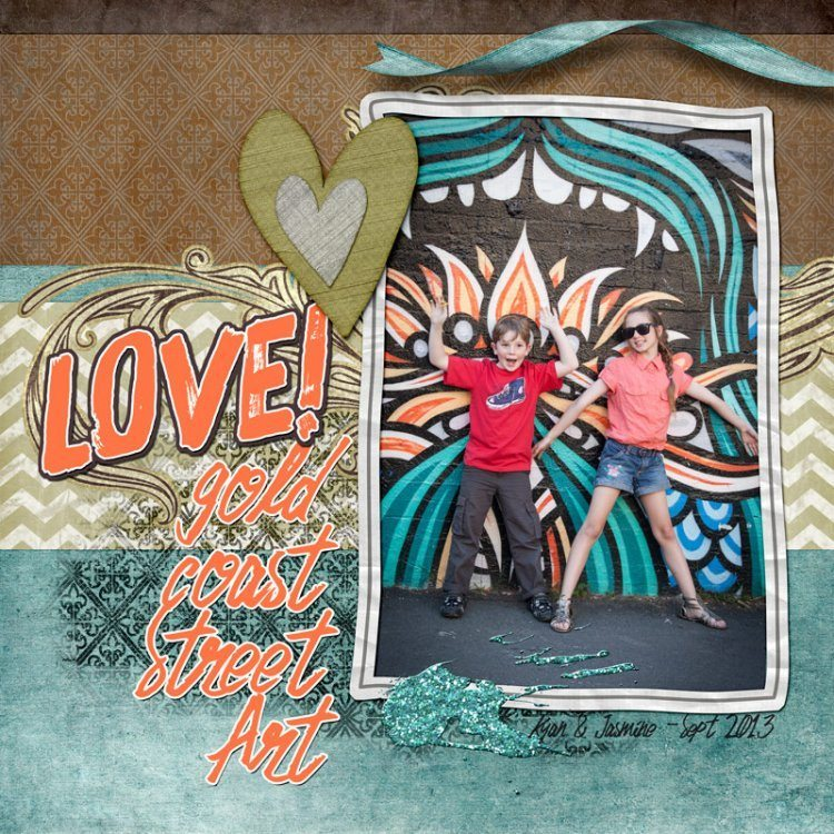 Digital Scrapbook Layout with the Fresh Flourish Digital Scrapbook Kit