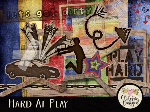 Hard at Play Digital Scrapbook Kit