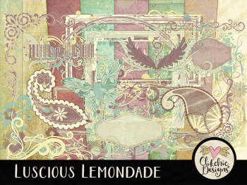 Luscious Lemonade Digital Scrapbook Kit