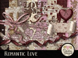 Romantic Love Digital Scrapbook Kit
