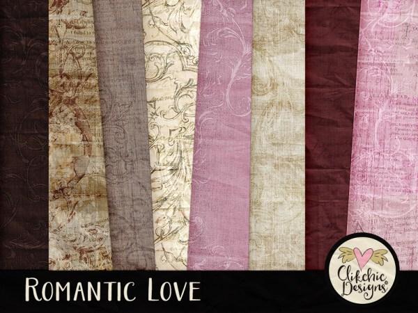 Romantic Love Digital Scrapbook Kit