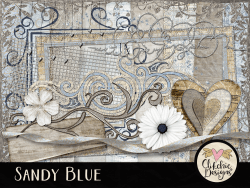 Sandy Blue Digital Scrapbook Kit
