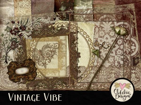 Vintage Vibe Digital Scrapbook Kit