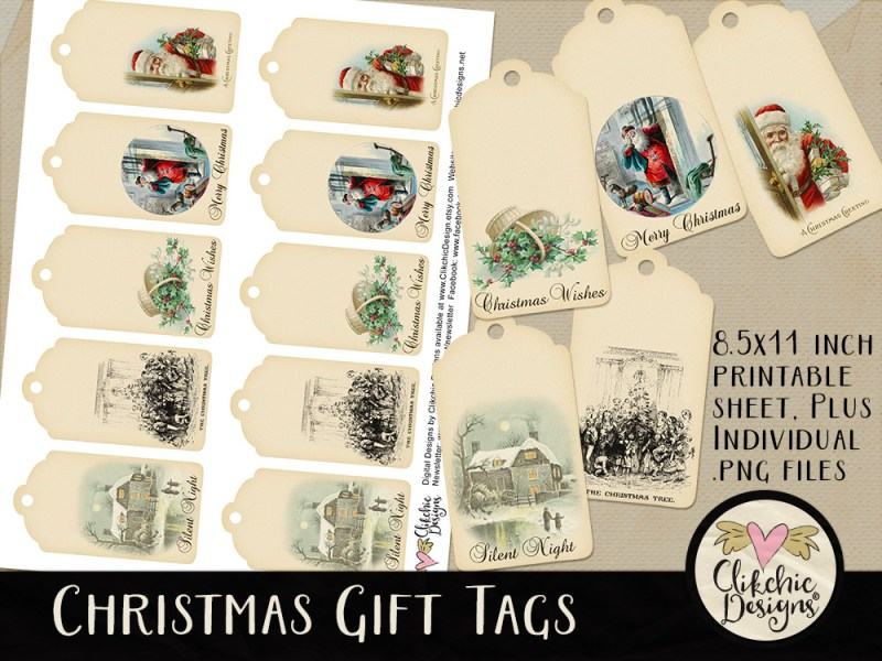 Vintage Christmas Printable Gift Tags