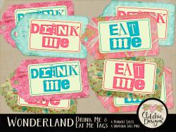 Alice in Wonderland Eat Me Drink Me Printable Tags