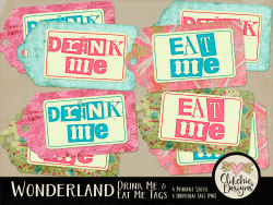 Alice in Wonderland Eat Me Drink Me Printable Tags