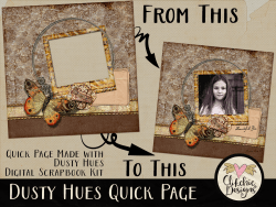 Dusty Hues Digital Scrapbook Quick Page