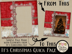 It's Christmas Digital Scrapbook Quick Page