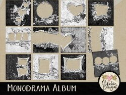 Monodrama Digital Scrapbook Quick Page Album