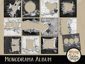 Monodrama Digital Scrapbook Album