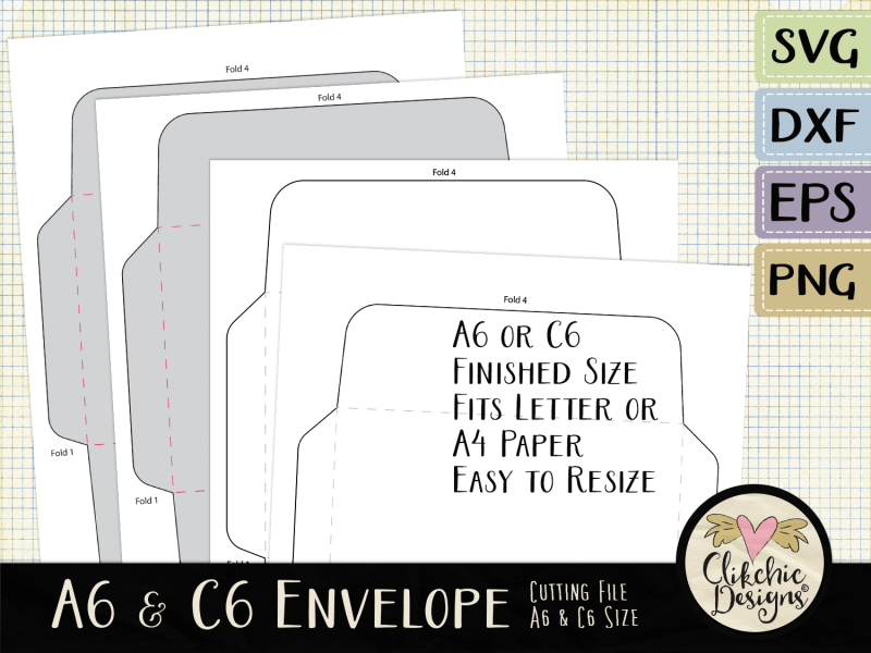 A6 and C6 Envelope SVG Cutting Files