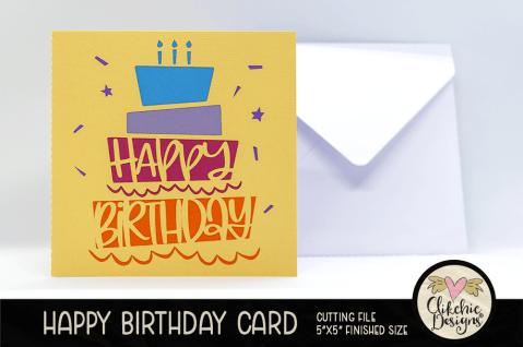 Cake Birthday Card Tutorial