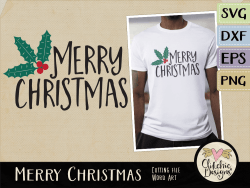 Merry Christmas Vector & SVG Cutting Files