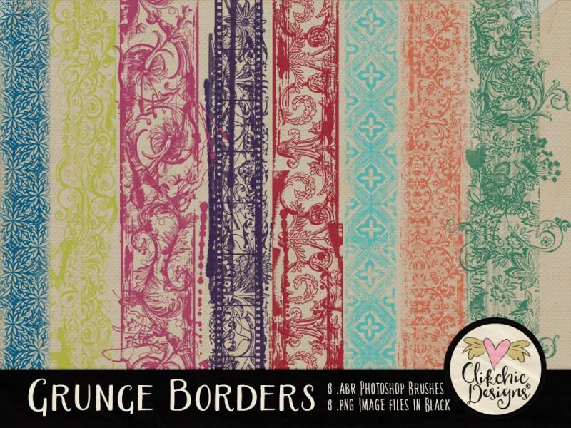 Grunge Borders Photoshop Brushes