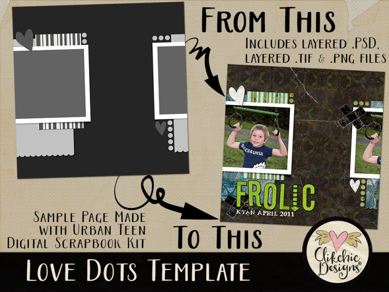 Love Dots Layered Photoshop Template