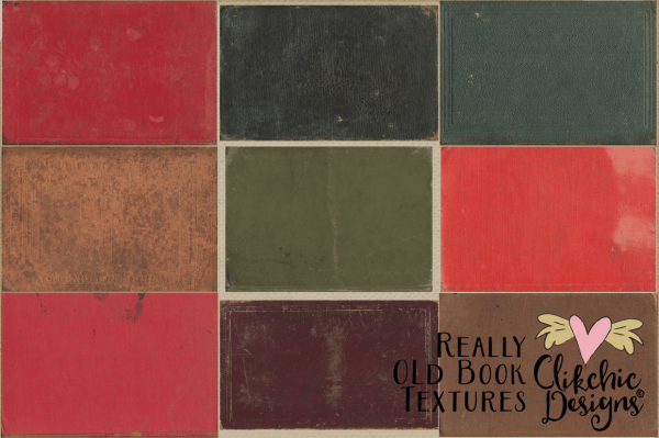Really Old Book Textures by Clikchic Designs