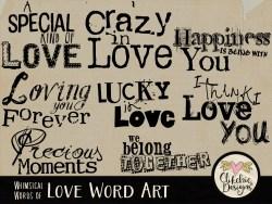 Whimsical Words of Love Word Art