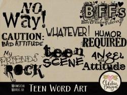 Whimsical Words of Teen Word Art