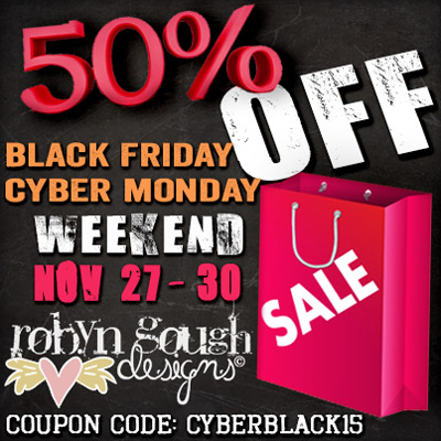 Black Friday and Cyber Monday Weekend 50% Off Sale!