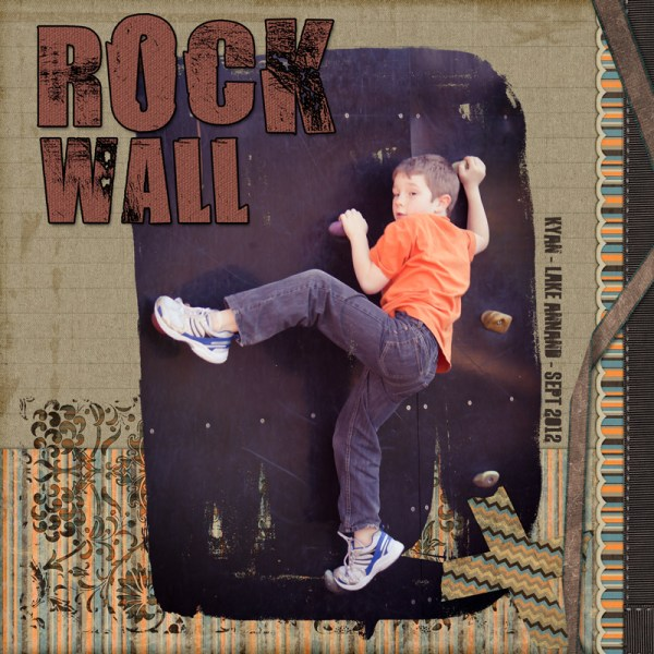 Rock Wall Digital Scrapbook Layout by Clikchic Designs Designs