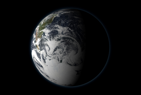 At the Earth's current rate of carbon dioxide increases in the atmosphere, the planet is likely to experience several degrees increase in average temperatures and large-scale changes such as ice sheet loss that could lead to several meters of sea level rise this century, NASA's James Hansen said in a recent paper. Credit: NASA's Scientific Visualization Studio.
