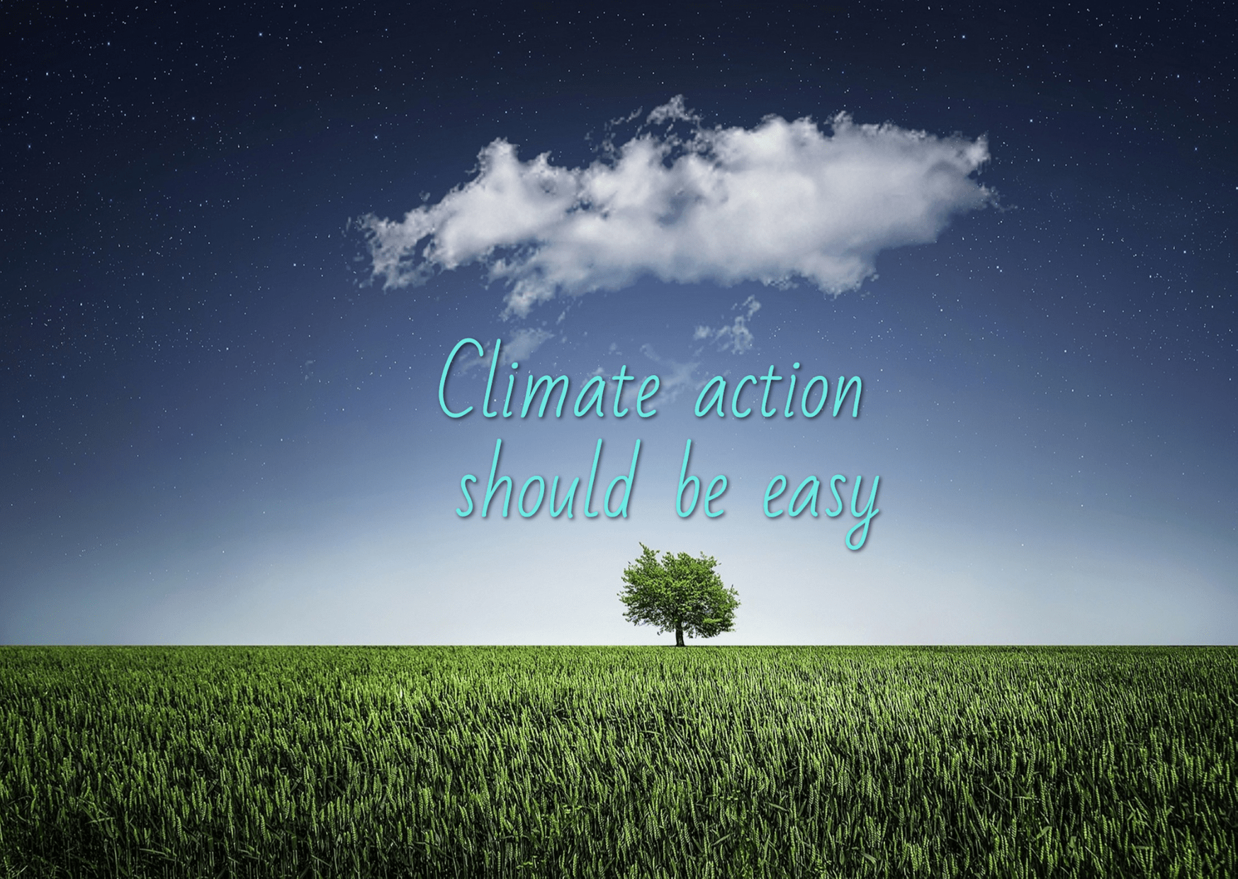 Climate Action should be easy