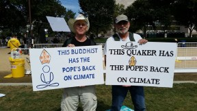 Doug Hendren and Dave Pruett at the Moral Action on Climate Rally. 9.24.15.