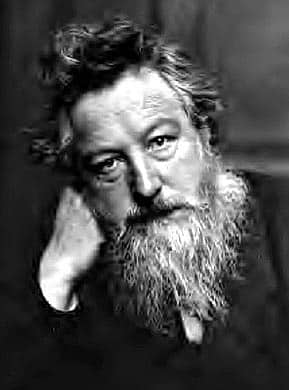 """William Morris: """"Between us and that which is to be ... there is something alive and devouring; something as it were a river of fire that will put all that tries to swim across to a hard proof indeed."""""""