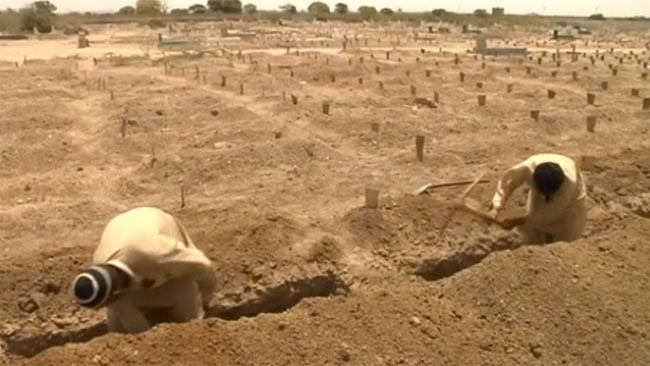 I wrote this after I read the news about people in Pakistan digging mass graves in advance of the forecast heatwave, so as to not be caught unprepared, as they were last year.