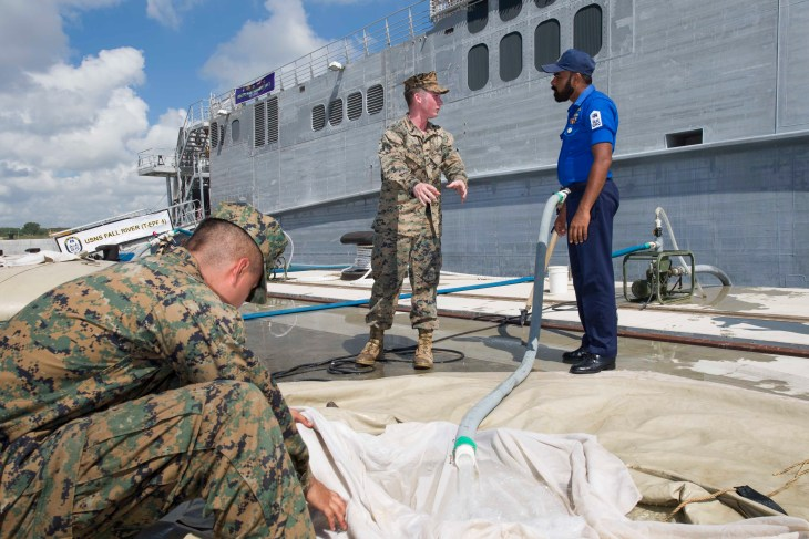 Marines, Sri Lankan military conduct water purification training during Pacific Partnership 2017
