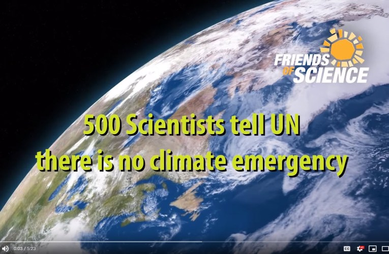 No Climate Emergency say 500 Scientists to UN