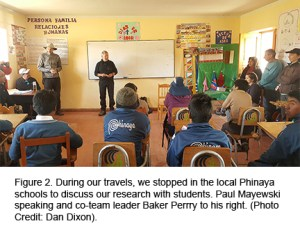Figure 2. Local school presentation