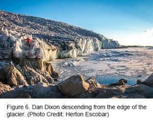 Figure 6. Descending from the edge of the glacier.