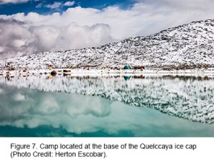 Figure 7: Camp at the Quelccaya Ice Cap.